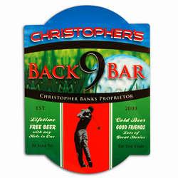 Personalized Vintage Golf Tavern Sign
