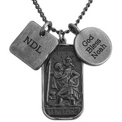 Personalized St. Christopher Dog Tag