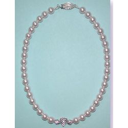Heart and Rosaline Pearl Pet Collar
