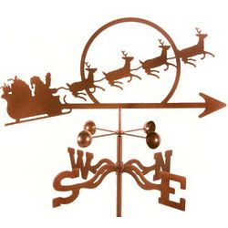 Santa and Sleigh Weathervane