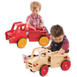 Wood Dump Truck Push Toy