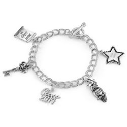 Personalized 2014 Graduation Charm Bracelet