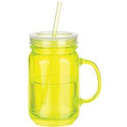 Green Freezable Mason Jar with Straw