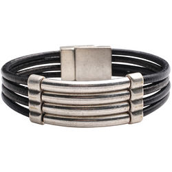 Leather Channel Bracelet