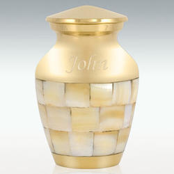 Brass Mother of Pearl Cremation Urn
