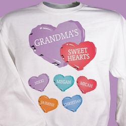 Candy Hearts Personalized Sweatshirt