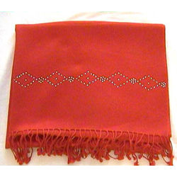 Pashmina Wrap with Swarovski Beadwork Diamond Border