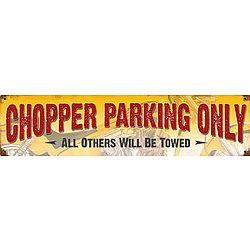 Chopper Parking Metal Sign