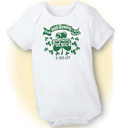 Personalized Our Irish Blessing Has Arrived Romper