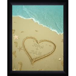 Framed Sand Names Personalized Poster