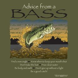 Advice from A Bass T-Shirt