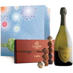 Congratulations with Dom Perignon & Godiva Truffles