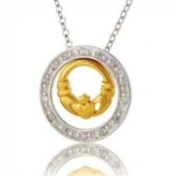 Claddagh Circles of Love Necklace