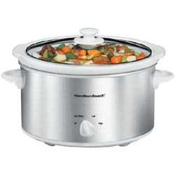 Hamilton Beach 4 Quart Slow Cooker in White and Silver