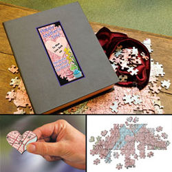'You're The Heart Of Our Home' 300 Piece Wooden USGS Map Puzzle