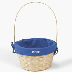 Personalized Easter Basket with Blue Liner