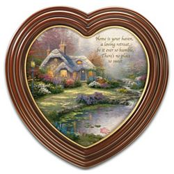 "Thomas Kinkade ""Home Sweet Home"" Heart Framed Print"