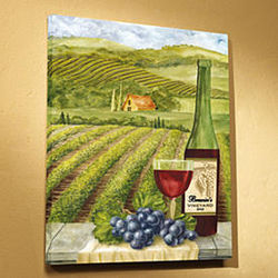 Personalized Vineyard Canvas
