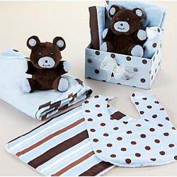 Teddy Bear and Baby Gear Set
