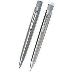 Stainless Tornado Pen and Pencil