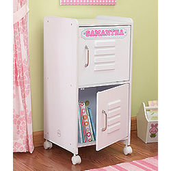Kid's Personalized White Storage Locker