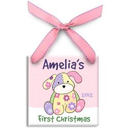 Girl's First Christmas Precious Pup Ornament