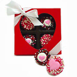Sweetheart Box of Belgian Chocolate Oreo Cookies