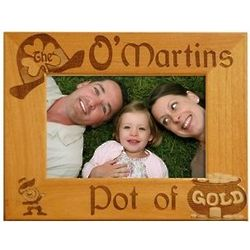 Personalized Pot of Gold Family Frame