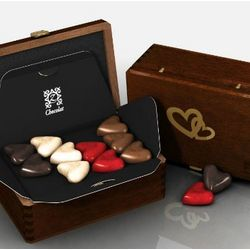 Romantic Ruby One for Me One for You Heart Chocolates Gift Box