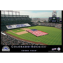 Colorado Rockies 12x18 Personalized Stadium Canvas