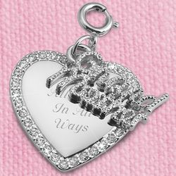 Engraved Grandmother Swing Charm
