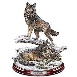Winter Majesty Wolf Den Sculpture