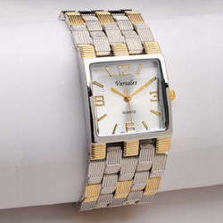 Two-Tone Weave Band Watch