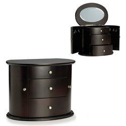 Dark Mahogany Jewelry Chest