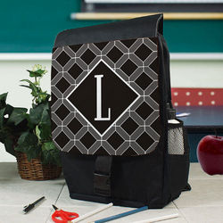 Personalized Geometric Squares Backpack