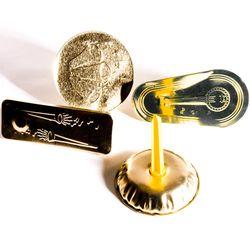 Gold Embossed Metal Noisemaker