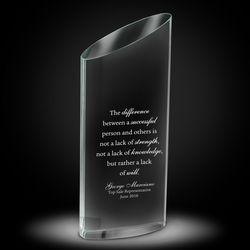 Personalized Elliptico Crystal Award