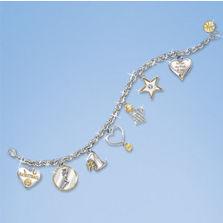 Pride & Joy Heart Shaped Sports Charm Bracelet