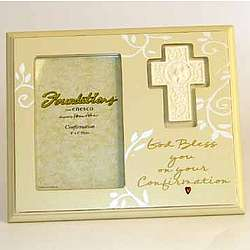 """God Bless You on Your Confirmation"" Personalized Frame"
