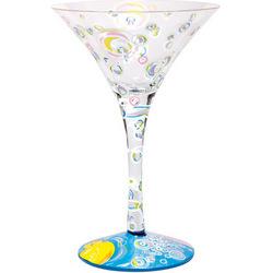 Bubble Bath-tini Hand Painted Martini Glass