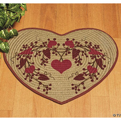Heart-Shaped Braided Rug
