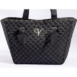 Knotted Couture Monogrammed Quilted Tote