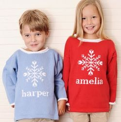 Childrens Snowflake Christmas Sweater