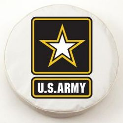 US Army White Spare Tire Cover