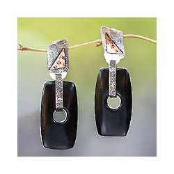Tonga Ebony Dangle Earrings