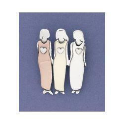 3 Sisters Pin in German Silver
