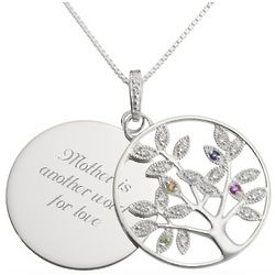 Four Birthstone Tree Necklace
