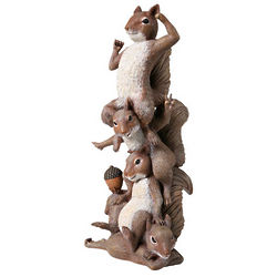 Squirrel Totem Garden Statue
