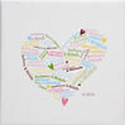 Heart of Love Personalized Wall Art