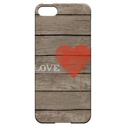 Rustic Love Slim Protective Hard Case for iPhone 5
